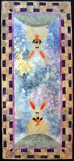 Once Upon A Bunny Hill Tablerunner Pattern by Purple Moose Desig