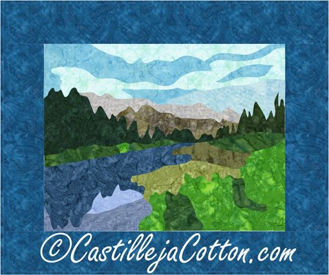 Policeman's Creek Art Quilt Epattern by Castilleja Cotton