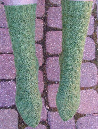 Polka Dot Sock Knitting Pattern by Natalie Wilson