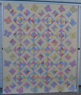 Flutterbyes and Summer Skies Quilt Pattern by Pieceful Patches