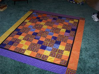 Miter Mania Quilt Pattern by Pieceful Patches