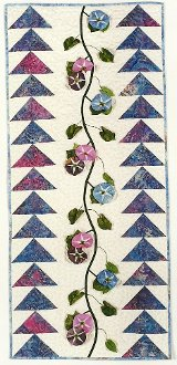 Morning Glory and Flying Geese Wallhanging Pattern by Petal Play