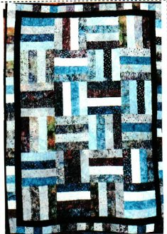 Strip Tease Quilt Pattern by Pieceful Patches