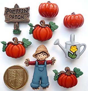 Pumpkin Patch 8ct Button Pack by Dress It Up