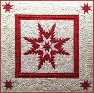 Feathered Star Illusion Quilt Pattern by Among Friends