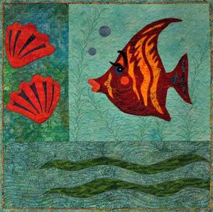 Prissy Fusible Applique Fish Wallhanging Pattern by Among Friends