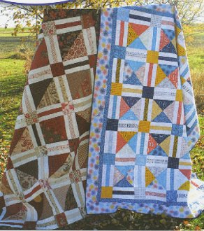 A Slice or Two Quilt Pattern in 2 Sizes by Quilting on the Curve