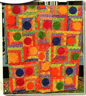 Bounce Quilt Pattern by Quilting on the Curve