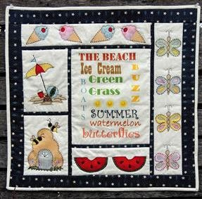 Signs of Summer Wallhanging Pattern by Quilter's Clutter