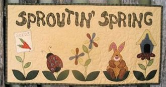 Sproutin' Spring Wallhanging Pattern by Quilter's Clutter
