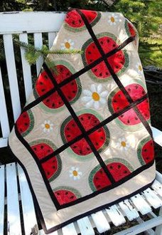 Watermelon Whirl Table Topper Pattern by Quilter's Clutter