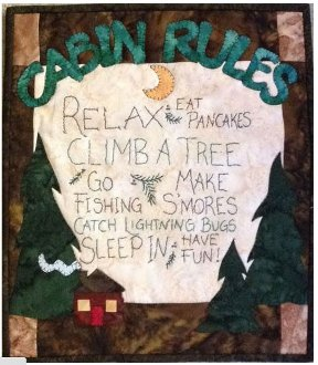 Cabin Rules Wall Hanging Pattern by Quilt Doodle Designs