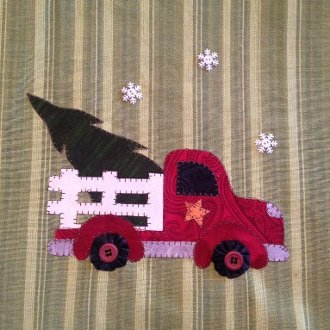 Christmas Delivery Applique Pattern by Quilt Doodle Designs