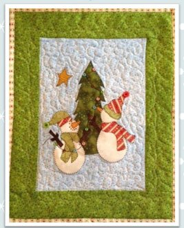 Snow Much Decorating Wallhanging Pattern by Quilt Doodle Designs