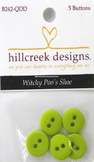 Witchy Poo's Shoe Button Pack by Quilt Doodle Designs