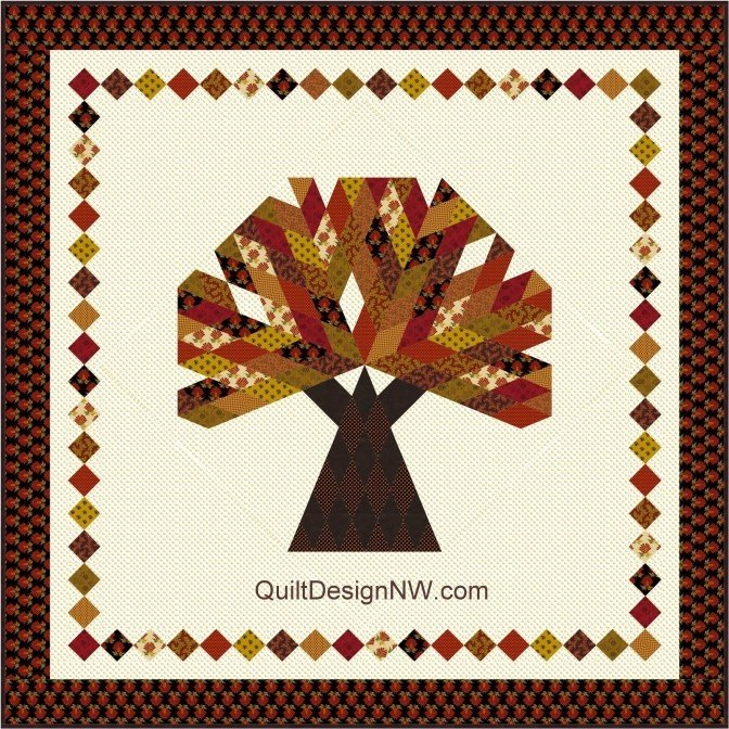 Big Tree Quilt Pattern by Quilt Design NW