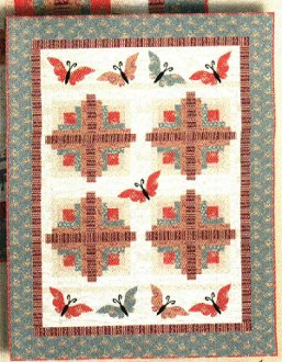 Cabin on the Prairie Quilt Pattern by Quilt Design NW