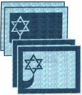 David's Star Placemats Pattern by Quilt Design NW
