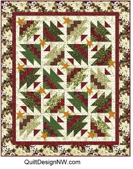 Rick Rack Christmas Trees Too Quilt and Placemat Pattern by Quilt Design NW