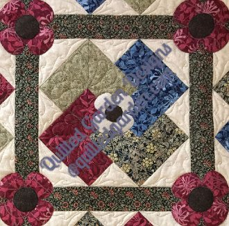 Flower Tricks Quilt Pattern by Quilted Garden Designs