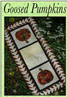 Goosed Pumpkins Tablerunner Pattern by Quilted Garden Designs