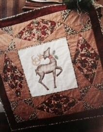 Majestic Reindeer Wallhanging Pattern by Quilted Garden Designs