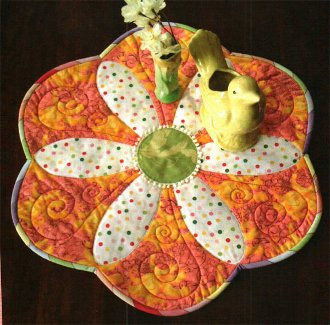 Petite Fleur Table Mat Pattern by Quilted Garden Designs