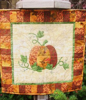 Pumpkin Days Wallhanging Pattern by Quilted Garden Designs