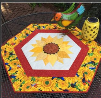 Sunflower Daze Table Topper Pattern by Quilted Garden Designs