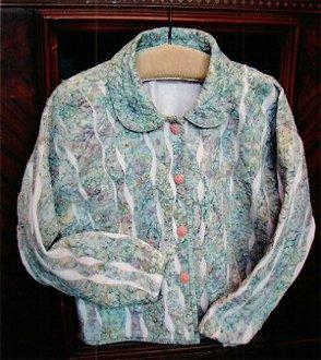 Wavy Sweatshirt Jacket Pattern by Quilted Garden Designs