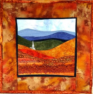 Autumn Hills - Accidental Landscapes #7 by The Quilted Lizard