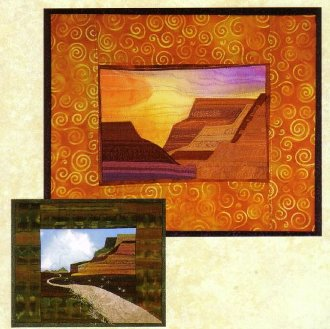 Canyons and Mesas - Accidental Landscapes #5 by The Quilted Lizard