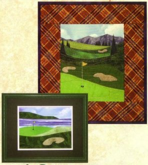 Golf Courses - Accidental Landscapes #8 by The Quilted Lizard