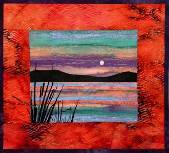 Lakes Applique Wallhanging Pattern - Accidental Landscapes #10 by The Quilted Lizard