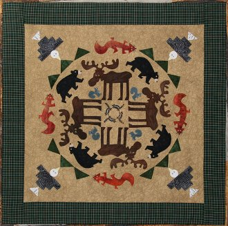 Mountain Moose Applique Wallhanging Pattern - Circle of Friends #5 by The Quilted Lizard