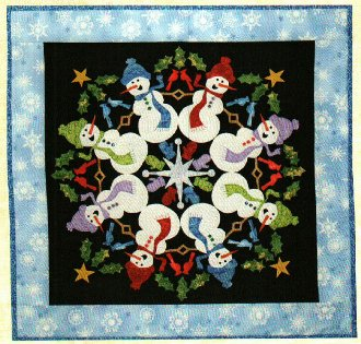 Silly Snowmen Wallhanging Pattern by The Quilted Lizard