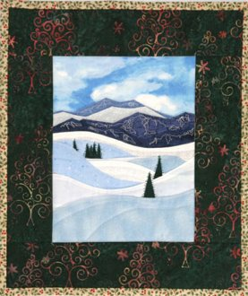 Ski Slopes Accidental Landscapes Wallhanging Pattern by The Quilted Lizard