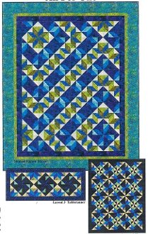 All For One Quilt/Tablerunner/Bedrunner Pattern in 5 Sizes by Quilt Moments