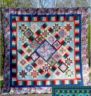 Keyboard Kaleidoscope Quilt Pattern in 4 Sizes by Quilt Moments