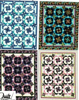 Spinning Wheel Quilt Pattern in 4 Sizes by Quilt Moments
