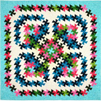 Twister Blooms Quilt Pattern in 4 Sizes by Quilt Moments