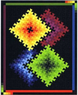 Twister Illusions Quilt Pattern in 3 Sizes by Quilt Moments