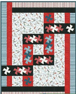 Twister Knot Quilt Pattern in 6 Sizes by Quilt Moments