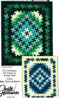 Twister Tapestry Quilt Pattern in 3 Sizes by Quilt Moments