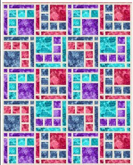 Boardwalk Place Quilt Pattern in 5 Sizes by The Quilt and Needle