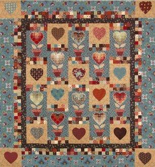 Bargello Heartflower Quilt Pattern by The Quilt Studio
