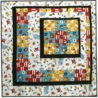 Slightly Off Center Quilt Pattern in 2 Sizes by The Quilt Studio