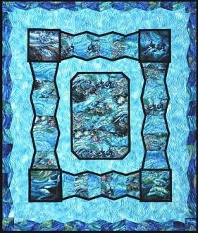 3-D By The Sea Quilt Pattern by Quilts With A Twist