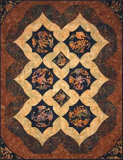 Alaska Toss Quilt Pattern in 2 Sizes by Quilts With a Twist