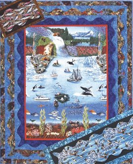 Alaska Waves Lap Quilt Table Runner and Placemat Pattern by Quilts With A Twist